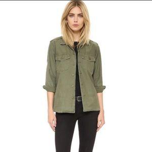 Equipment Kate Moss Military Denim Jacket Size XS